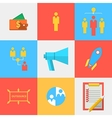 Flat icons for outsource team vector image