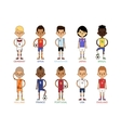 Football team sport soccer players group vector image