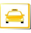 taxi car image vector image
