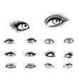 woman eyes set vector image