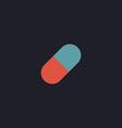 Pill computer symbol vector image