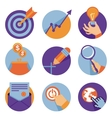 icons in flat retro style vector image vector image