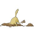 dog digging a hole vector image