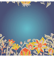 Seamless border texture with flowers vector image
