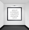 Gallery room interior blank picture frame vector image