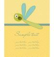 greeting baby card vector image