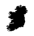 map ireland vector image