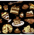 set of cakes and desserts vector image