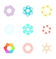 Artificial flowers icons set cartoon style vector image