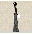 Bride in glittering dress vector image