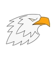 Eagle head logo 2 vector image