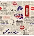 Newspaper London vector image