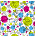 pattern of hand draw butterflies vector image