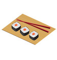 plate from a japanese rolls or sushi vector image