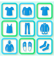 Set of 9 bright icons of men clothing vector image