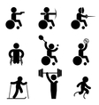 Sport paralympic games icons vector image