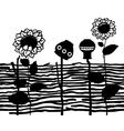 wooden fence - ukrainian ethnic style vector image