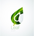 Abstract leaf company logo nature logotype idea vector image