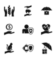 Assurance icons set simple style vector image
