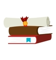 book school with diploma isolated icon vector image