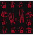 Bloody Hand Print set 02 vector image