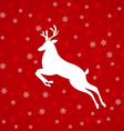 abstract white deer vector image vector image