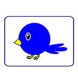 Blue bird with a yellow beak vector image