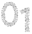 ornamental number 01 vector image vector image