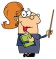Professor Woman vector image