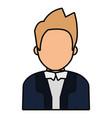 avatar judge man icon vector image