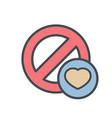 block cancel favorites lock stop icon vector image
