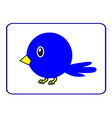 Blue bird with a yellow beak vector image