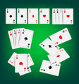 casino poker cards classic playing vector image