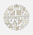 colorful geometry vector image