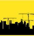 construction cranes and buildings vector image