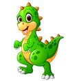 Cute dinosaur cartoon vector image