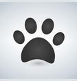 dog paw print paw icon vector image