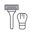 machine for shaving line icon sign vector image