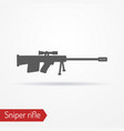 sniper rifle silhouette icon vector image