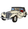 Vintage cream cabriolet vector image