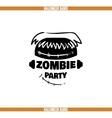Zombie Party Badge vector image