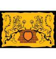 heraldic sign tiger vector image