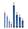 Various Size of Sharpened Pencils vector image