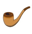 Cartoon tobacco pipe vector image