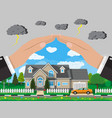 house and car insurance concept vector image