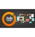 job search bag loop online web employment career vector image