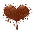 liquid chocolate heart vector image