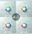 set of 4 circular infographic design templates vector image