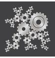 set of cogs gears vector image
