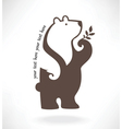 standing bear in symbol style vector image